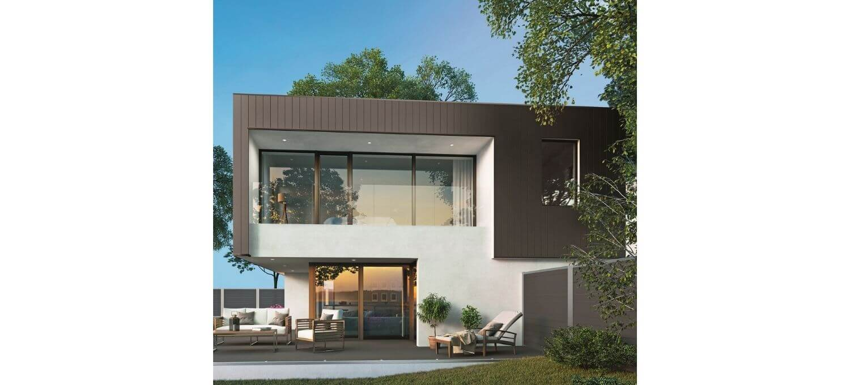 Moderne woning met aluminium gevelafwerking