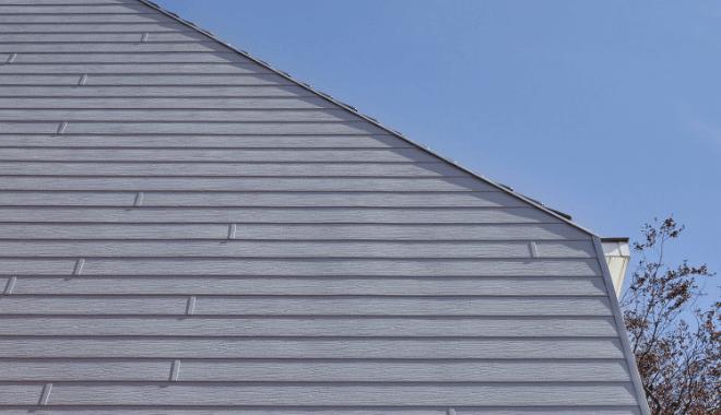 Standaard kunststof gevel in houtnerf