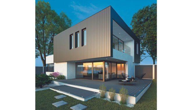 Villa in aluminium gevel